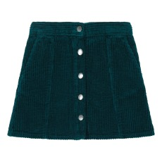product-Hundred Pieces Ribbed Velvet Trapeze Skirt
