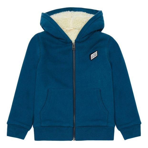 huge discount a18aa 69afd Felpa con Zip e pelo Piece Of Cool Blu petrolio