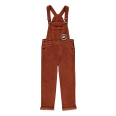 product-Hundred Pieces Nature Is The Future Ribbed Velvet Dungarees
