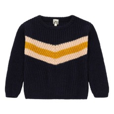 product-Bonton Striped Ribbed Jumper
