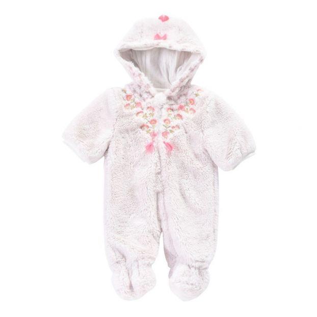 2f3e4a73c Albania Faux Fur Snowsuit Ecru Louise Misha Fashion Baby