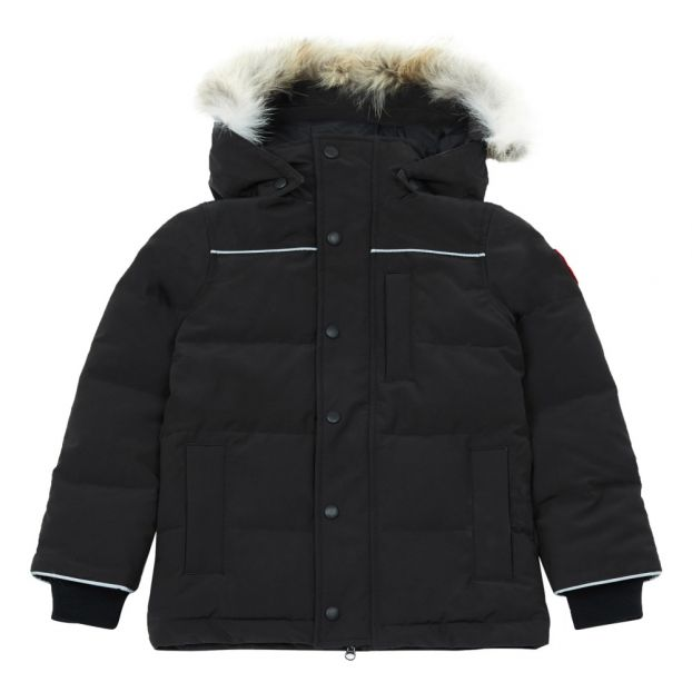 3d5dcc3a674 Parka Eakin Fourrure Noir Canada Goose Mode Adolescent