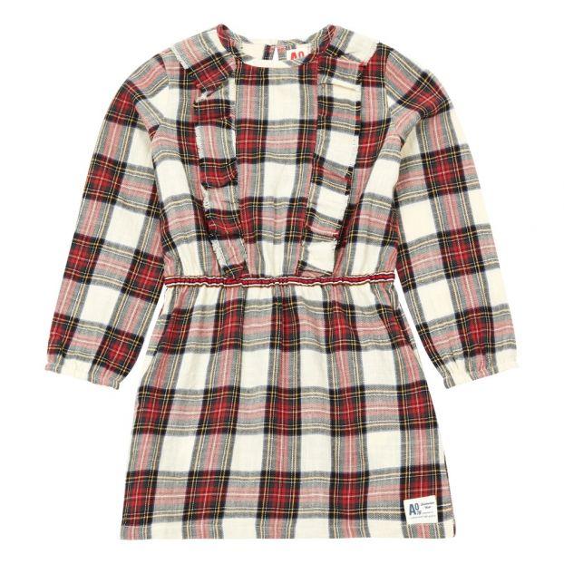 buy popular f1b24 a1bbc Vestito a quadri Minot Rosso