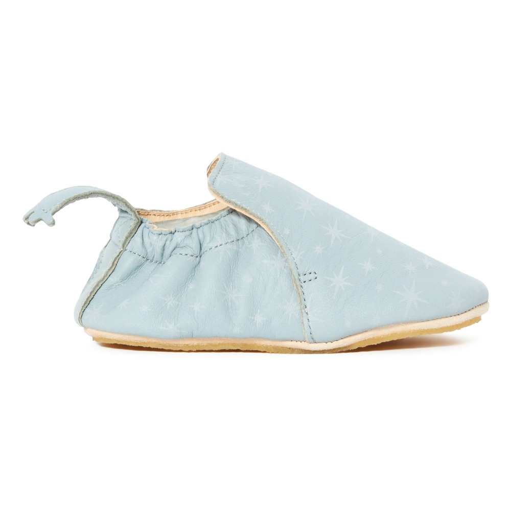 bd988681526be4 Blublu Cosmos Leather Slippers Light blue Easy Peasy Shoes Baby