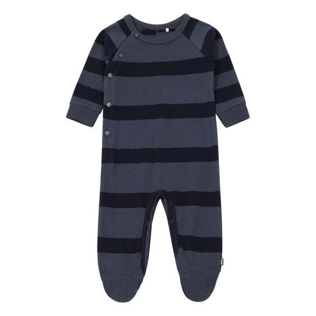 e96a81f5374 Organic Cotton Footed Romper Midnight blue Imps   Elfs Fashion