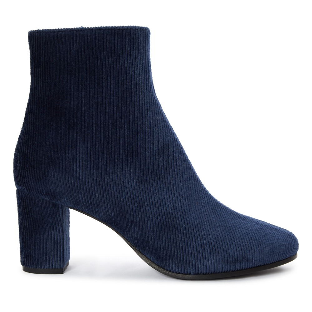 3c23e89a7e080 Bottines Velours 241 Bleu marine Rivecour Chaussure Adulte