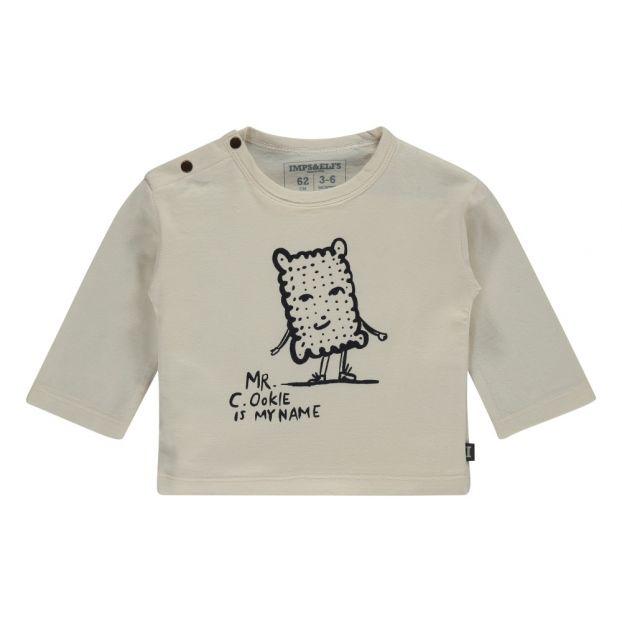 3a555c1b607 Mr Cookie Organic Cotton T-shirt White Imps   Elfs Fashion Baby