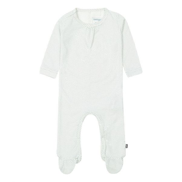 1ae9d23f27a Organic Cotton Polka Dot Romper White Imps   Elfs Fashion Baby