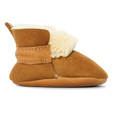 product-Amy & Ivor Fur Linen Leather Slippers