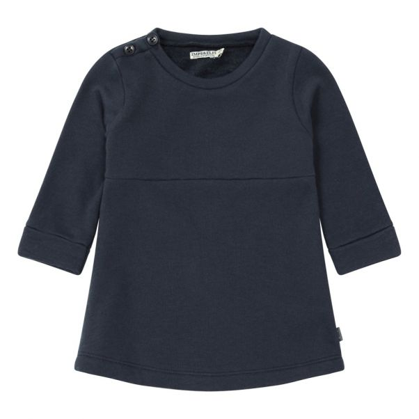 6831dd561a0 Organic Cotton Dress Grey blue Imps   Elfs Fashion Baby