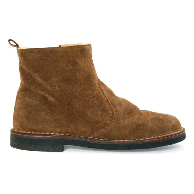 a4fa928d828 Fur Lined Suede Boots Camel