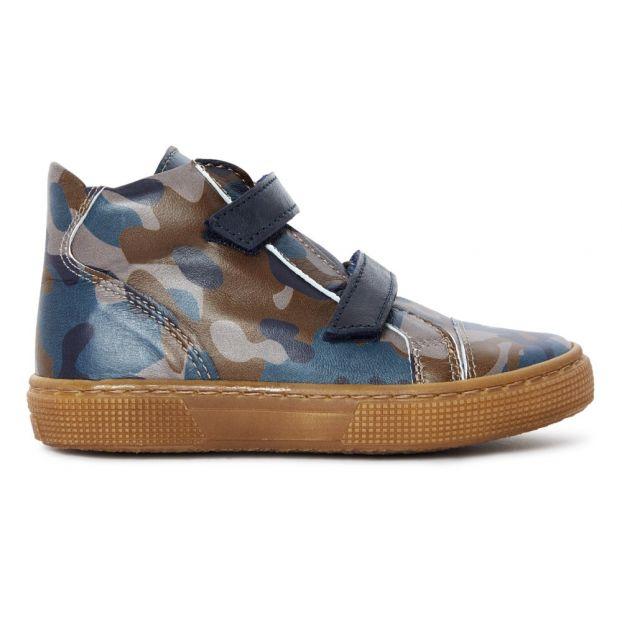 Camouflage Trainers Blue Pèpè Shoes