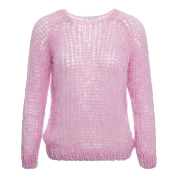 cheap for discount 6f9b9 caff1 Pullover aus feiner Mohair-Wolle Rosa