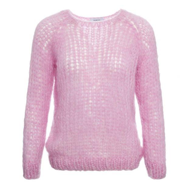 cheap for discount b5432 5a5b8 Pullover aus feiner Mohair-Wolle Rosa
