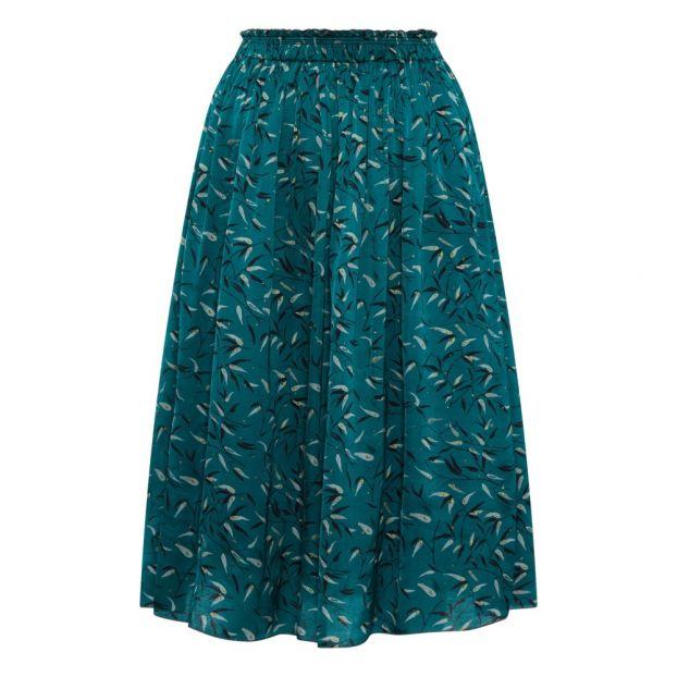 Pomandère Mode Mi Longue Imprimée Bleu Jupe Turquoise Adulte xBoeWCQrdE