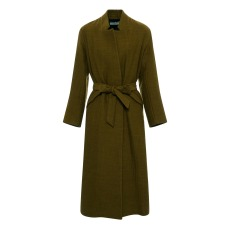 product-Pomandère Linen and Wool Long Coat