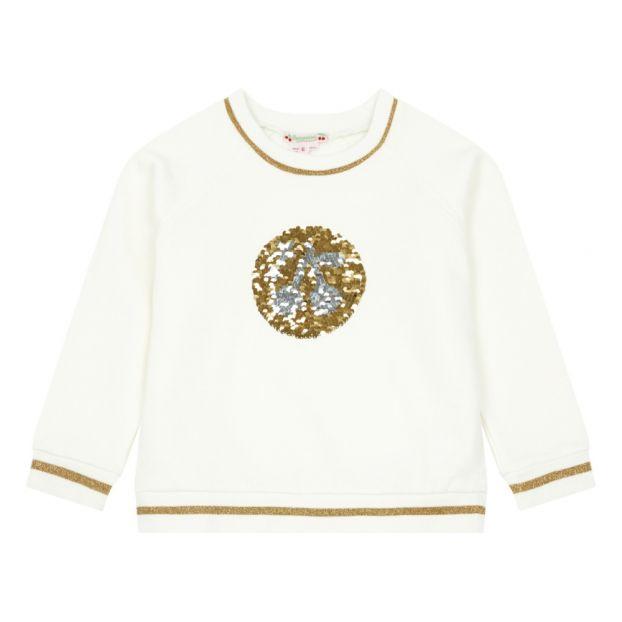 dfe81adbd06d4 Sequined Sweatshirt Ecru Bonpoint Fashion Children