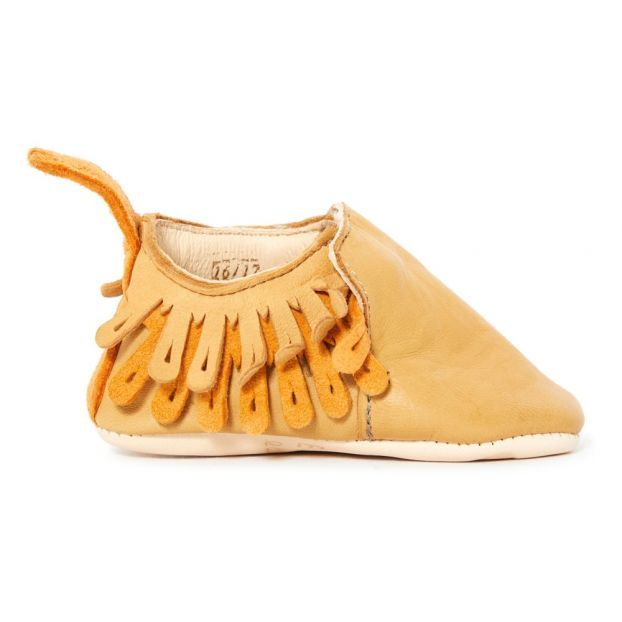 e6b1d3045b808c Frangette Leather Slippers Camel Easy Peasy Shoes Baby