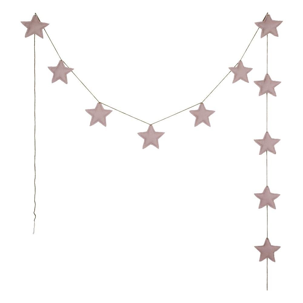 Girlande Mini-Sterne Bio-Baumwolle
