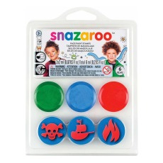 product-Snazaroo Mini kit tampons maquillage Sous l'océan et Pirate - Set de 3