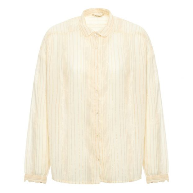 remise spéciale de bonne qualité esthétique de luxe Striped Lurex Blouse - Women's Collection Blue
