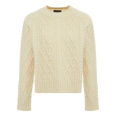 product-Le Mont Saint Michel Cable Stitch Woolen Jumper
