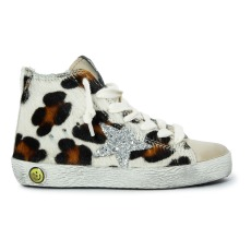 product-Golden Goose Deluxe Brand Francy Sequined Leopard Trainers