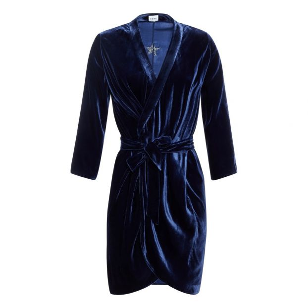Mi Longue Velours Maé Robe Bleu Marine MLVqSzpUjG
