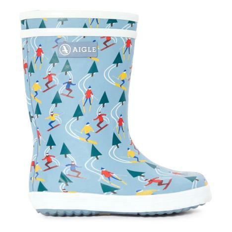 Blue Pop Boots Shoes Ski Aigle Children Light Fur Lolly Lined 8nX0kOwP
