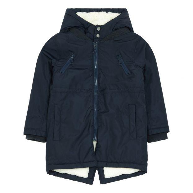 cb4ea1b63464 Marc Fur Lined Parka Navy blue Kidscase Fashion Baby