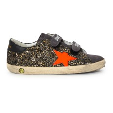 product-Golden Goose Deluxe Brand Old School Velcro Sequined Trainers