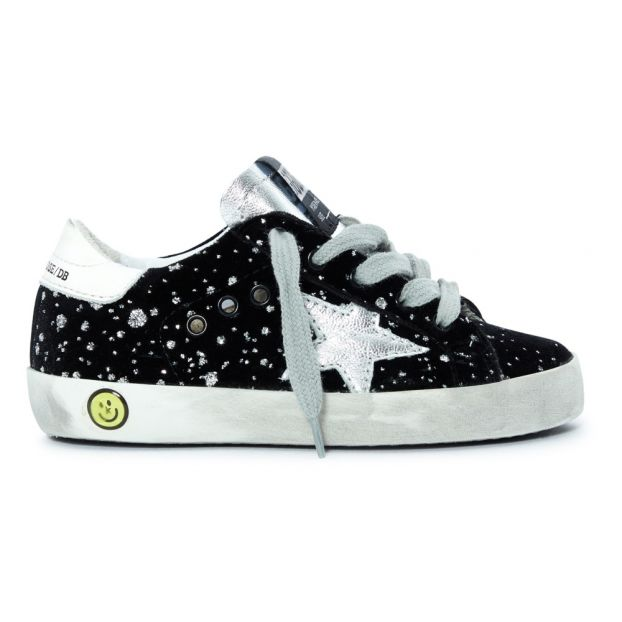 87749b6a29b5b Baskets Lacets Strass Superstar Noir Golden Goose Deluxe Brand