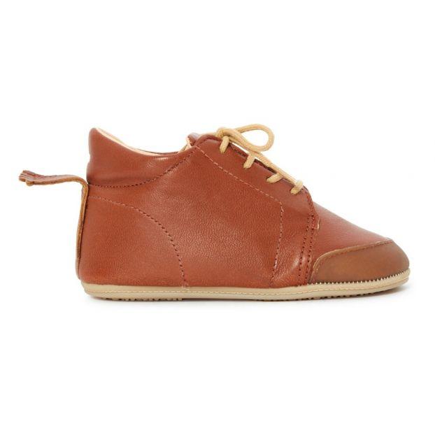 e8fa251d22bbfa Igo B Pre-Walking Leather Slippers Cognac Easy Peasy Shoes Baby