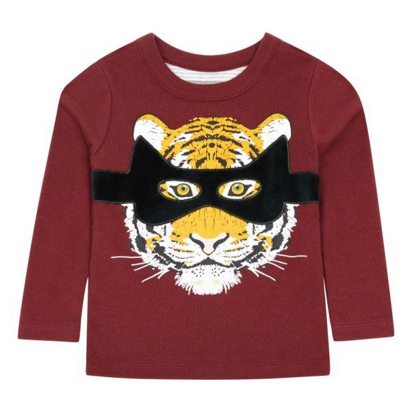 50fda057b Tom Tigre T-shirt Burgundy Milk on the Rocks Fashion Children
