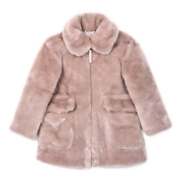 ea0f33afb237 Carolyne Faux-Fur Coat Dusty Pink Stella McCartney Kids Fashion