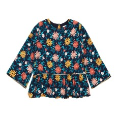 product-Hundred Pieces Blusa Flowers Seventies