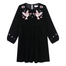 product-Stella McCartney Kids Robe Velours Colibris Brodés Georgina