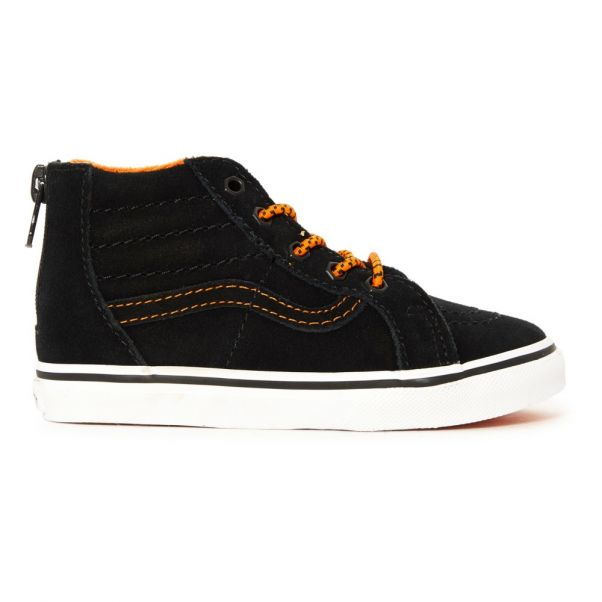 Baskets Montantes SK8-HI Zip Noir Vans Chaussure Enfant 4d1e5292baca