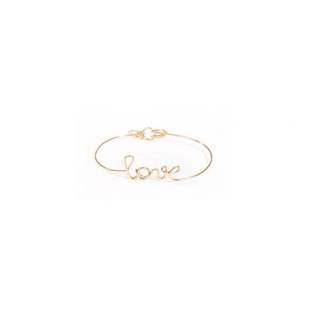 e481dc499314 Pulsera Love oro 14 quilates Dorado