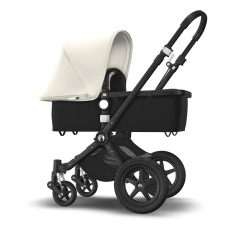 product-Bugaboo Cameleon3 Complete Convertible Pushchair with Aluminium Frame, Black Seat, Black Bassinet, White Canopy