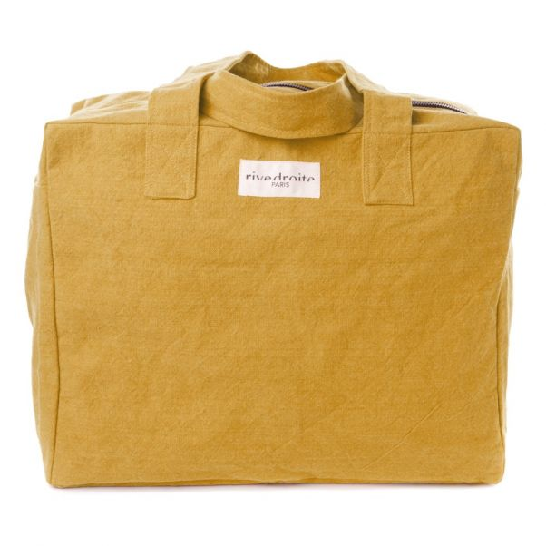 88542ee340b9 Elzevir Recycled Cotton Bag Mustard Rive Droite Design Adult