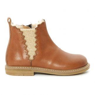 Chelsea Boots Fourrées Camel