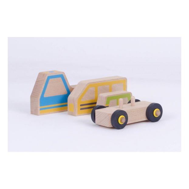 Modulable En Voiture De Les Construction Bois Jouets Kit FJTK1cl
