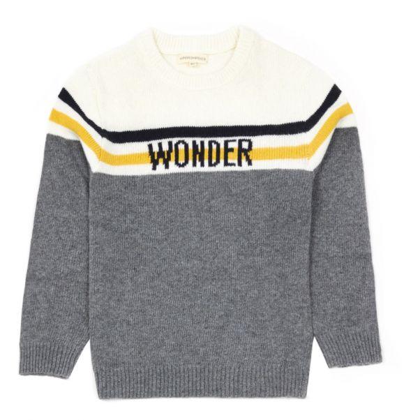 Pull Wonder Gris chiné Hundred Pieces Mode Adolescent , Enfant 5fd7ae42df7
