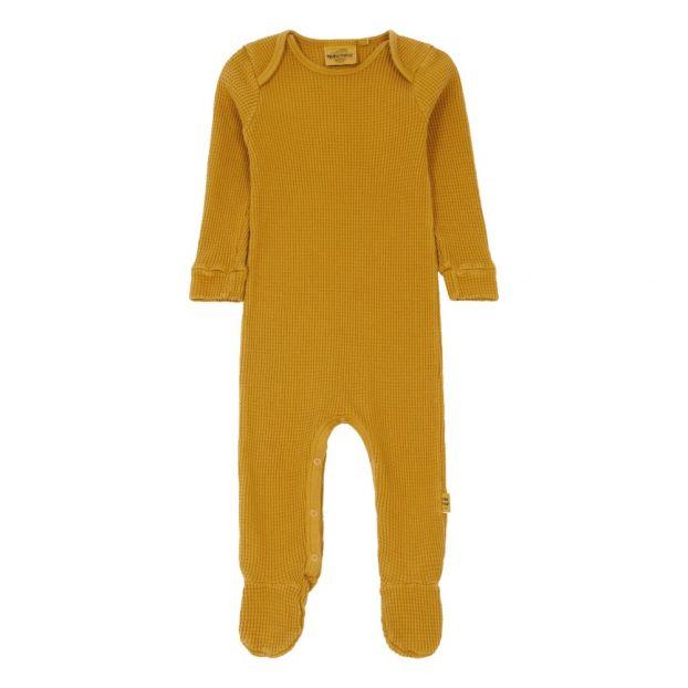 c3282669f64ef Pyjama en Nid d Abeille Bobo Jaune moutarde Moumout Mode Bébé