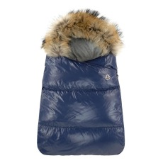 product-Moncler Faux Fur Baby Bunting Bag