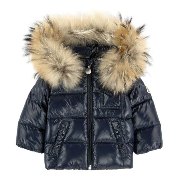 3833b76ef K2 Fur Down Jacket Navy blue
