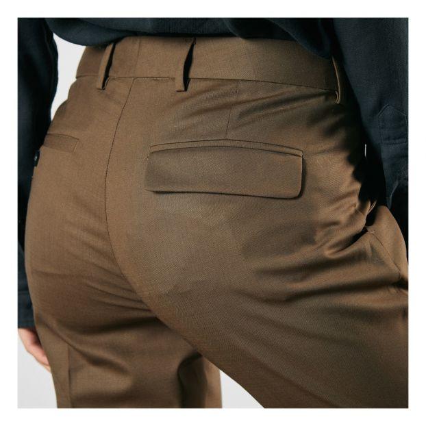 Adulte Noyer Droit Mode Laine Pantalon Pomandère OlXuZiwPkT