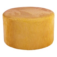product-Present Time Ribbed velvet pouffe