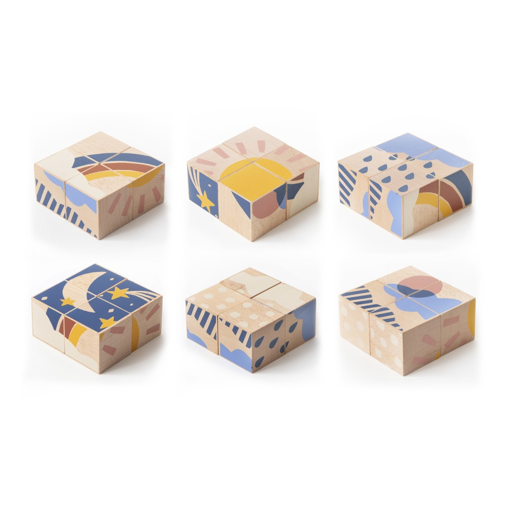 Cubes en bois météo